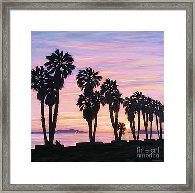 Sunset At Surfers Point Framed Print by Tina Obrien