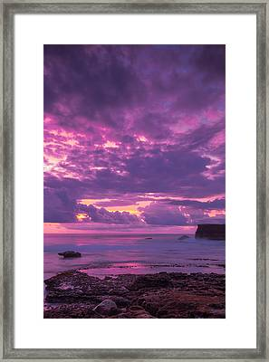 Framed Print featuring the photograph Sunset At Tanah Lot - Bali by Matthew Onheiber