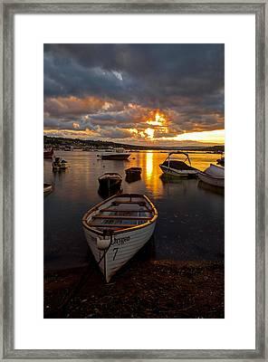 Sunset At Teignmouth Framed Print