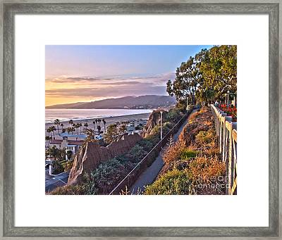 Sunset At The Bluffs Framed Print