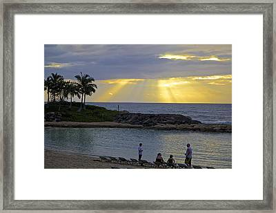Sunset At The Lagoon Framed Print