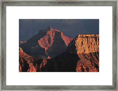 Sunset, Bright Angel Point, North Rim Framed Print by Michel Hersen