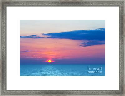 Sunset By The Sea Framed Print by Michal Bednarek