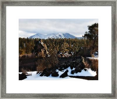 Sunset Crater Framed Print by Gilbert Artiaga