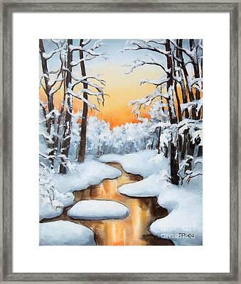 Sunset Creek Framed Print