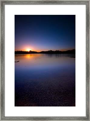 Sunset Creek Framed Print by Mark Andrew Thomas