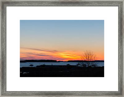 Sunset Down East Maine  Framed Print