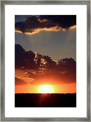 Framed Print featuring the photograph Sunset by Elizabeth Budd
