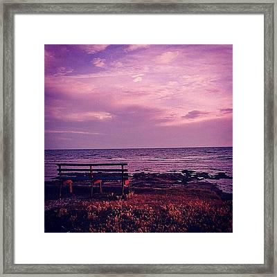 Sunset Framed Print