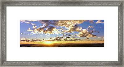 Sunset From The Rim Of Canyon De Chelly Framed Print by Panoramic Images