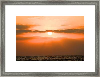 Sunset Framed Print by Gregor  Gatti