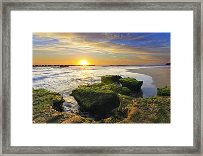 Sunset In Anzio Framed Print by Catalin Palosanu