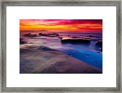Sunset In La Jolla  Framed Print