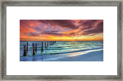 Sunset In Paradise Framed Print