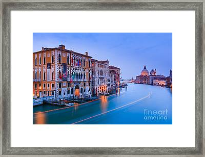 Sunset In Venice Framed Print by Henk Meijer Photography
