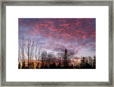 Sunset Jonesport Maine  Framed Print