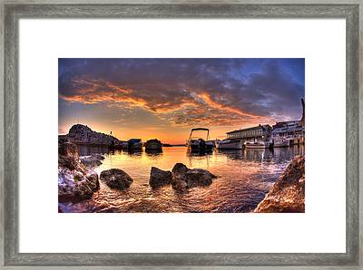 Sunset Framed Print by Karim SAARI