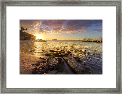 Sunset Light Framed Print by Debra and Dave Vanderlaan