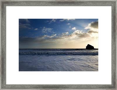 Sunset On Ballydowane Beach, Bunmahon Framed Print by Panoramic Images