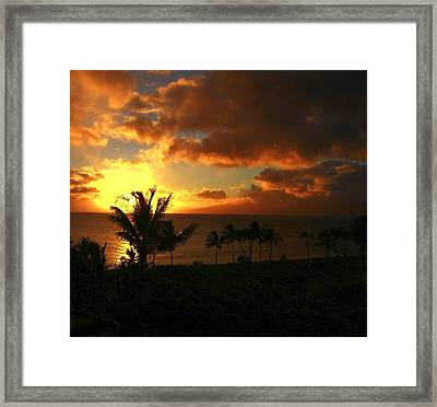 Sunset On Maui Framed Print