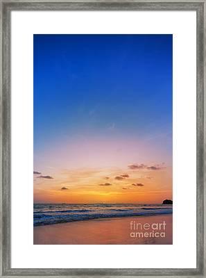 Sunset On Phiphi Island Framed Print by Atiketta Sangasaeng