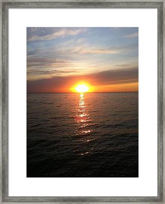 Framed Print featuring the photograph Sunset On The Bay by Tiffany Erdman