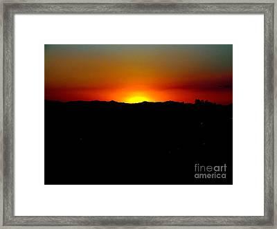 Sunset Over Arizona Framed Print by John Potts