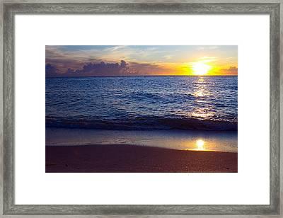 Sunset Over Boca Grande  Florida Framed Print by Fizzy Image