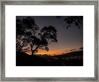 Sunset Over Copan Framed Print