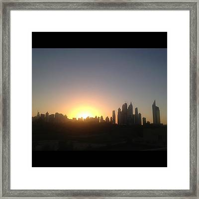 Sunset Over Dubai Feb 2013 Framed Print by Maeve O Connell