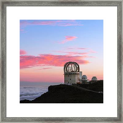 Sunset Over Haleakala Observatories Framed Print by Babak Tafreshi