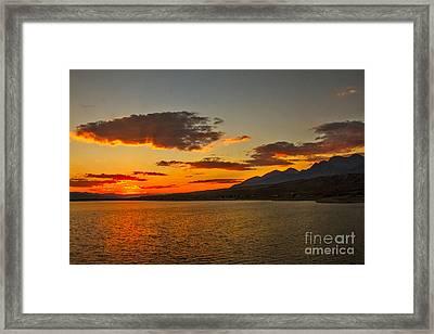 Sunset Over Mackay Reservoir Framed Print
