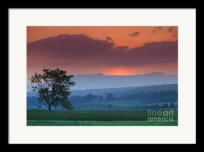 New England States Framed Prints