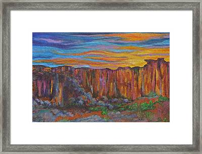 Sunset Over The Canyon Framed Print