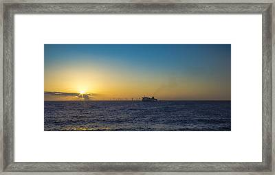 Sunset Over The Irish Sea Framed Print by Paul Madden