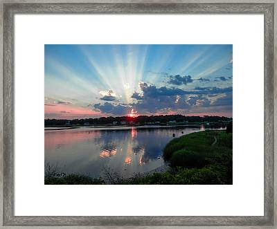 Sunset Rays Framed Print by Heather Sylvia