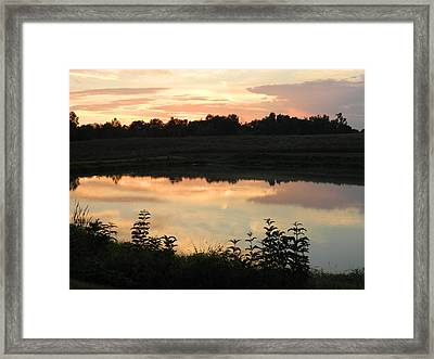 Sunset Reflection Framed Print by Linda Brown