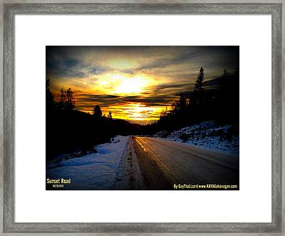 Framed Print featuring the photograph Sunset Road by Guy Hoffman