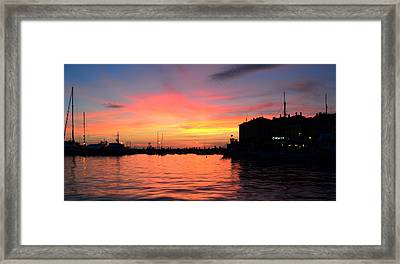 Sunset Rovinj Framed Print