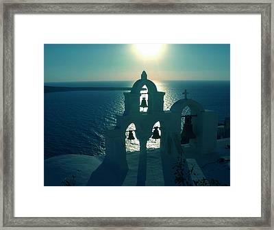 Sunset Santorini Greece Framed Print by Colette V Hera  Guggenheim