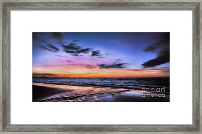 Sunset Seascape Framed Print by Adrian Evans