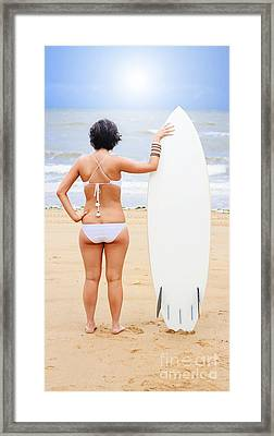 Sunset Surf Framed Print by Jorgo Photography - Wall Art Gallery