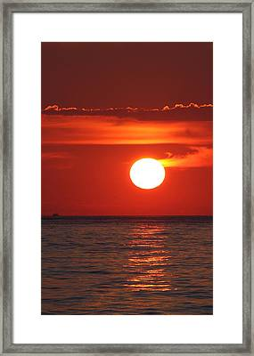At The End Of The Day Framed Print by Vadim Levin