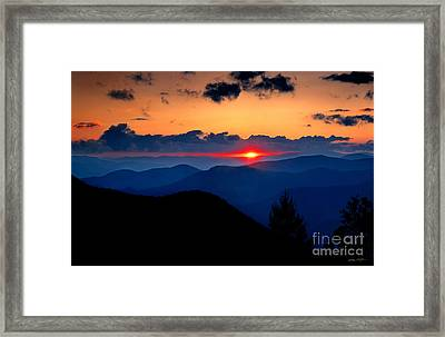 Sunset View From The Blue Ridge Parkway 2008 Framed Print