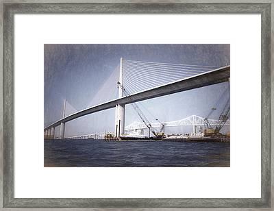 Sunshine Skyway Bridge II Framed Print by Richard Rizzo