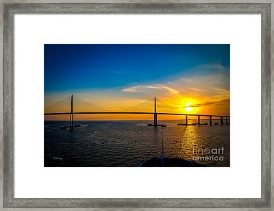 Sunshine Skyway Bridge  Framed Print