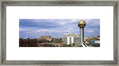 Sunsphere In Worlds Fair Park Framed Print by Panoramic Images