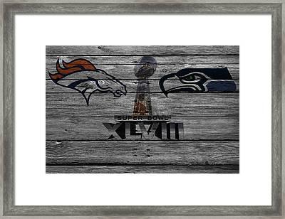 Super Bowl Xlviii Framed Print by Joe Hamilton
