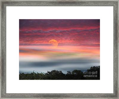 Super Moon Over Santa Rosa Framed Print