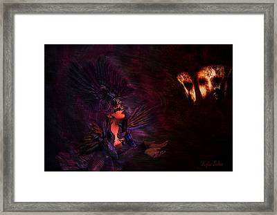 Framed Print featuring the digital art Supplication 06301301 - By Kylie Sabra by Kylie Sabra